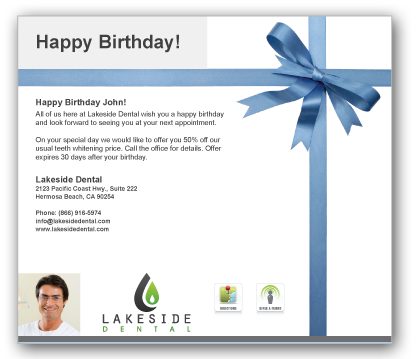 AwardWinning Services to Boost Your Revenue Patient Activator – Birthday Greetings Sample